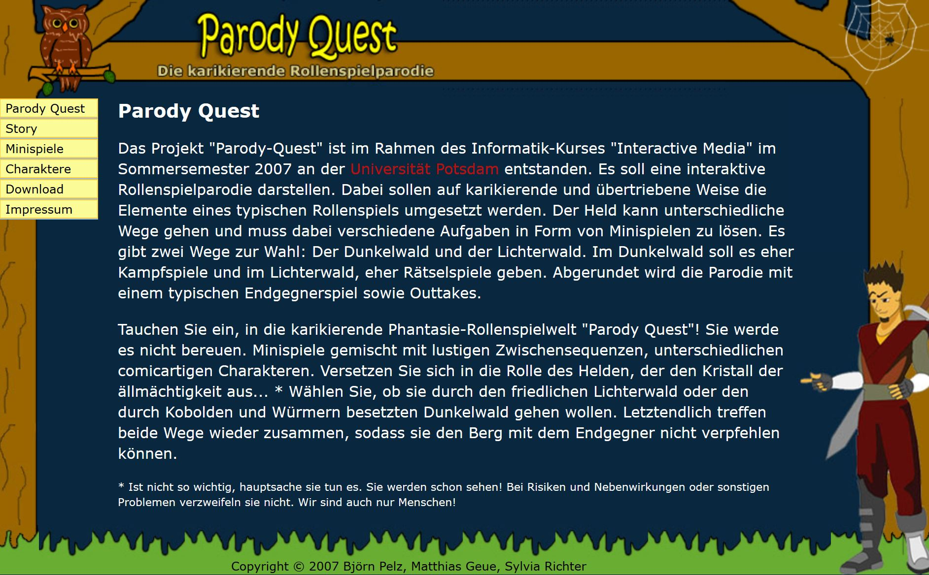 Website Parody Quest